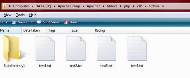 Содержимое папки archive после извлечения archive1 и archive2